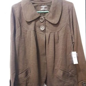 Lane Bryant NWT brown cotton blazer plus 24